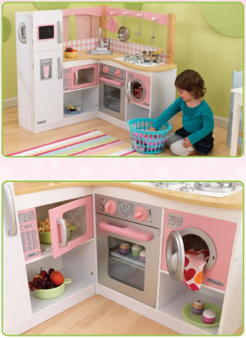 Genial KidKraft Grand Gourmet Corner Kitchen Play Set 53185: