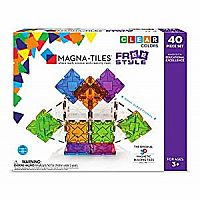 Magna-Tiles 40Piece Freestyle Set The Original, Award-Winning Magnetic Building Tiles
