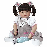 "Adora Toddler Silver Fox Doll 20"" Girl"