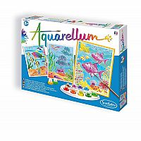 SentoSphere Aquarellum Large - Coral Reefs - Arts and Crafts Watercolor Paint Set