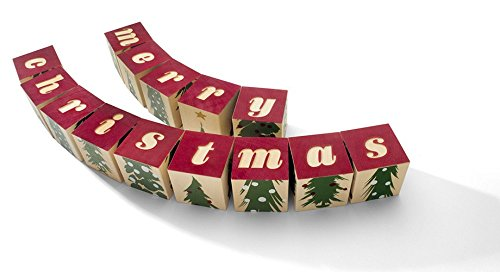 uncle goose merry christmas decorative blocks - Merry Christmas Decorative Blocks