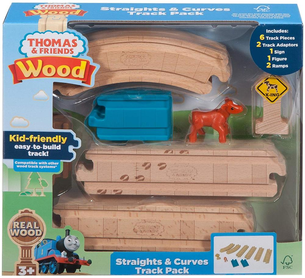 Fisher Price Thomas Friends Wood Straights Curves Track Pack Fisher Price