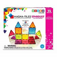 Magna-Tiles 15-Piece Stardust Set