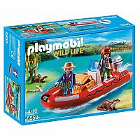 PLAYMOBIL 5559 Inflatable Boat with Explorers
