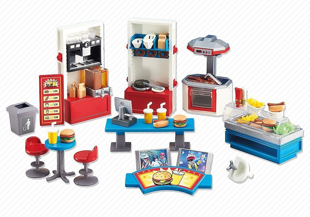 Playmobil add on series fast food restaurant playmobil for Salle a manger playmobil