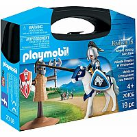 PLAYMOBIL® 70106 19 Piece Knights Training Carry Case, Multicolor