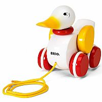 BRIO World - 30323 Pull Along Duck Baby Toy | The Perfect Playmate for Your Toddler