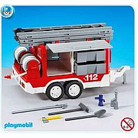 PLAYMOBIL #7485 Fire Trailer New!