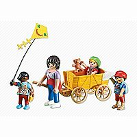 Playmobil Add-On Series - Teacher with Wooden Cart