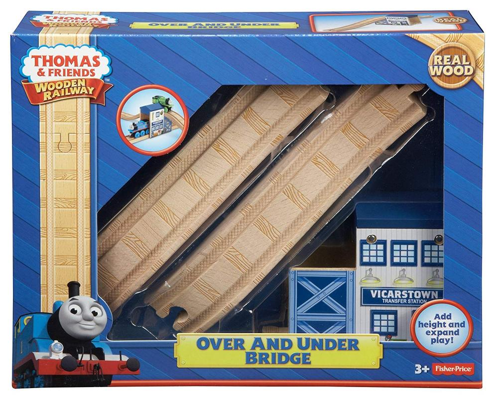 Fisher Price Thomas Friends Wooden Railway Over And Under Bridge