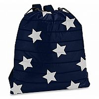 Navy with Star Puffer Drawstring