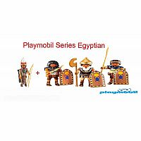 Playmobil Add on Series 6489 Egyptian General and 6488 Egyptian Warriors figures Bundle
